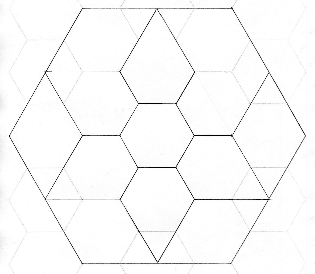 Free Printable Hexagon Quilt Template