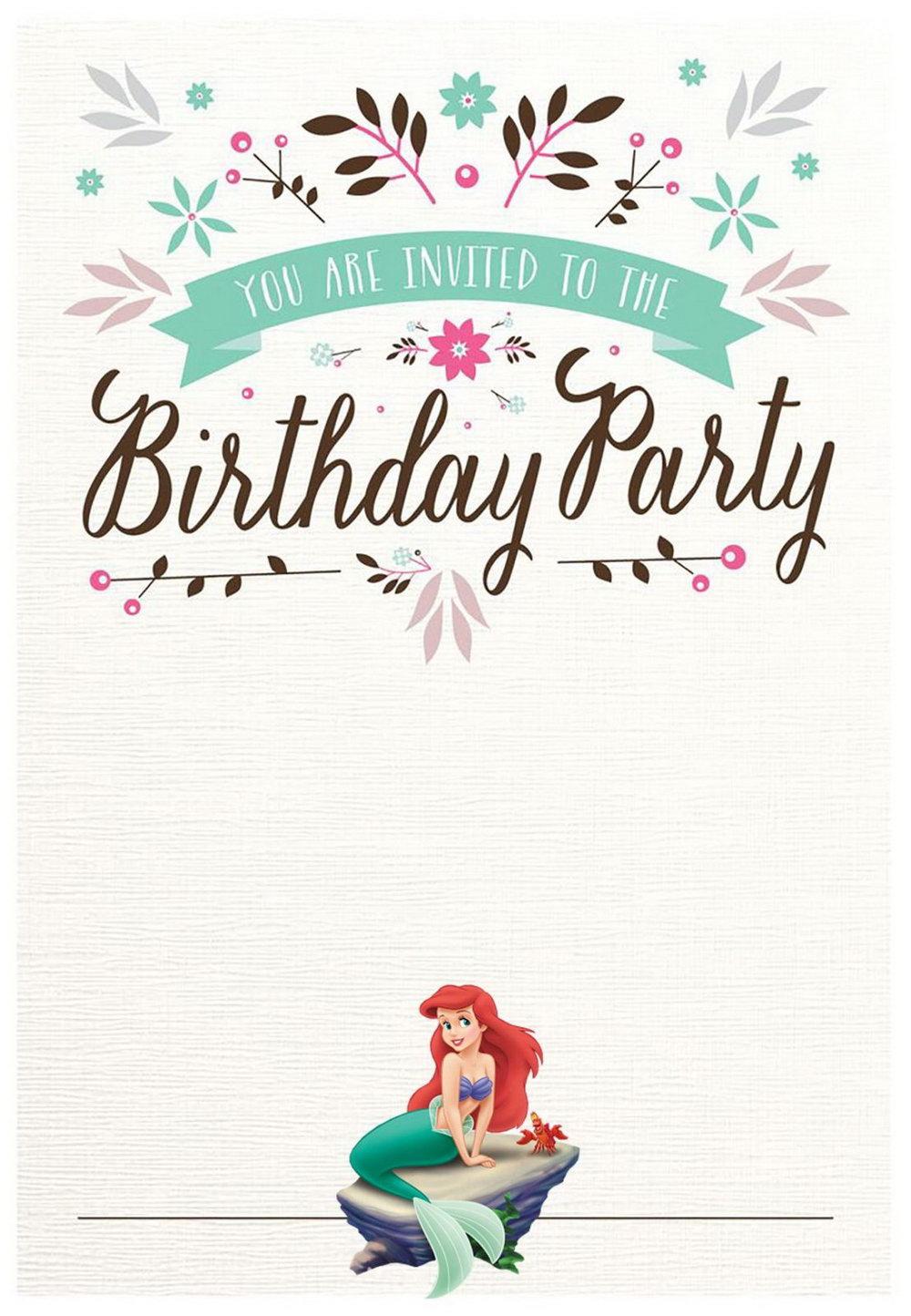 Free Printable Mermaid Invitation Template