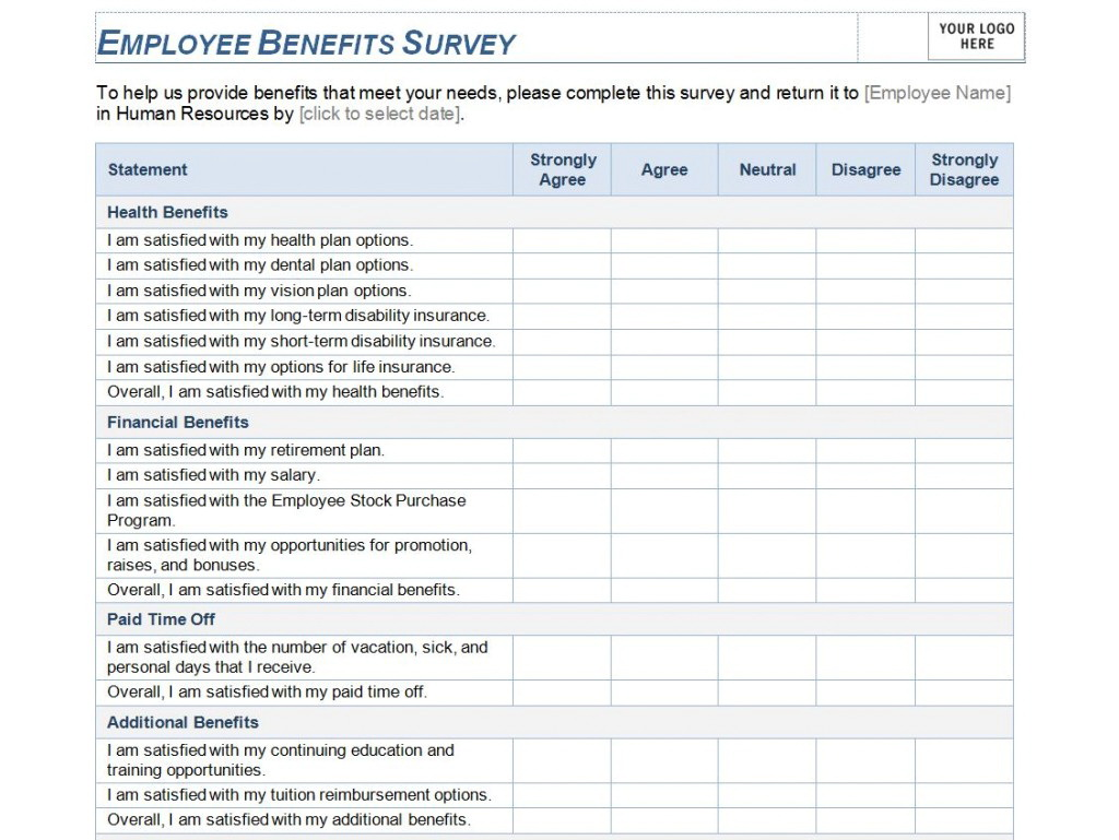Free Printable Survey Template