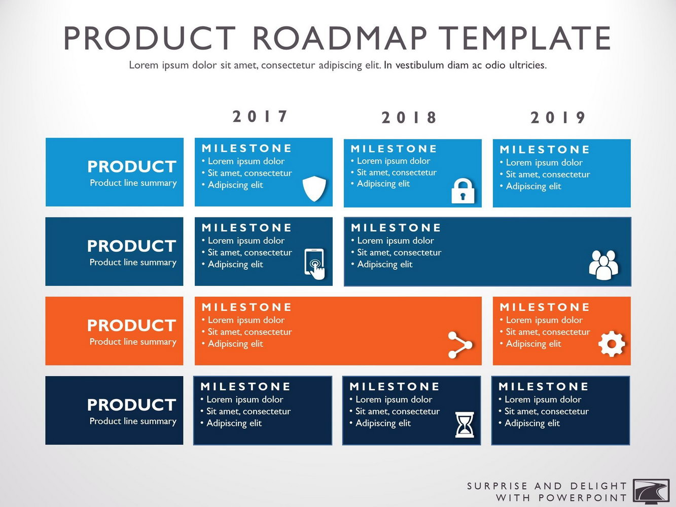Free Product Roadmap Powerpoint Template