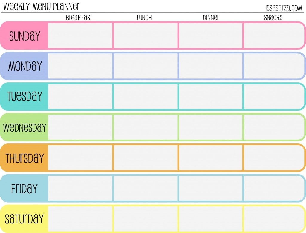 Free Snack Schedule Template