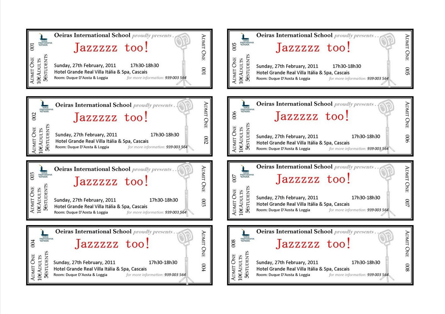 Free Template For Raffle Tickets With Numbers