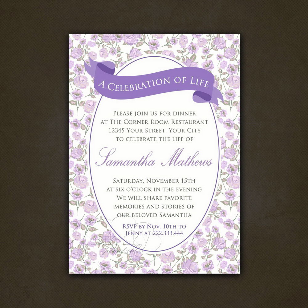 Funeral Reception Invitation Template