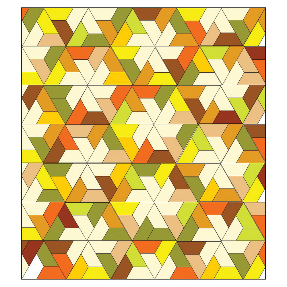 Half Hexagon Quilt Template