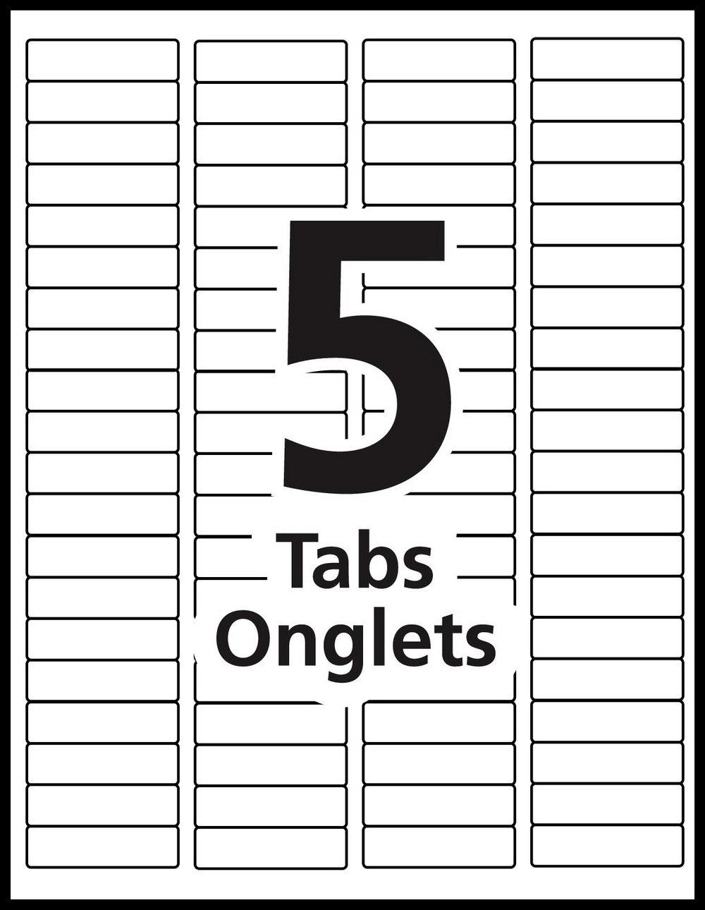 Hanging Folder Tab Template Word
