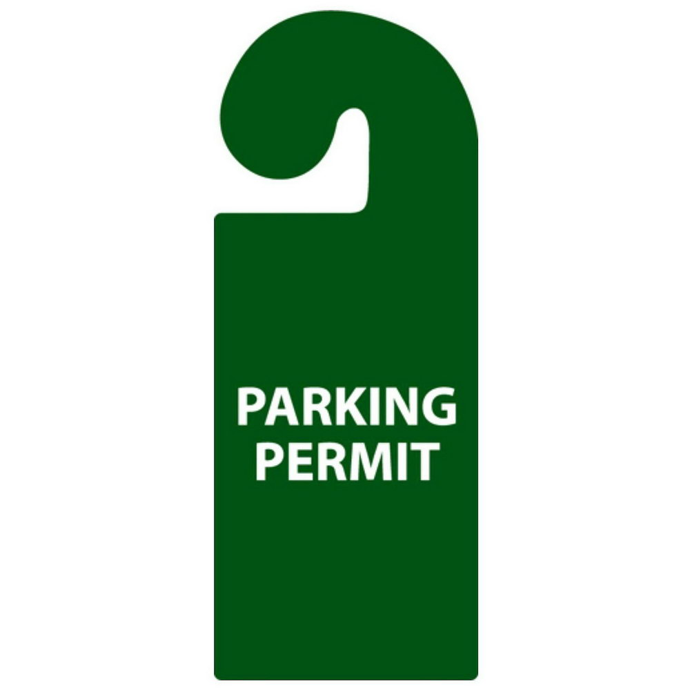 Hanging Parking Pass Template Free