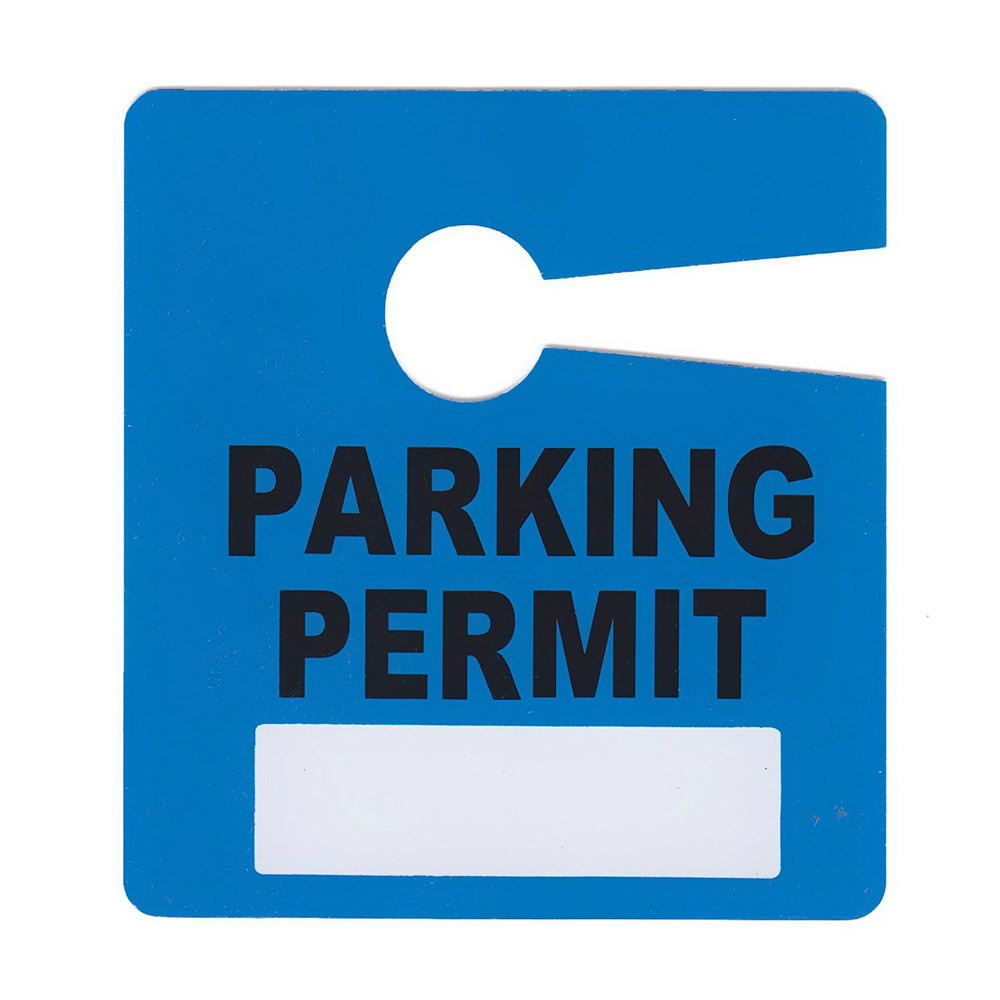 Hanging Parking Pass Template