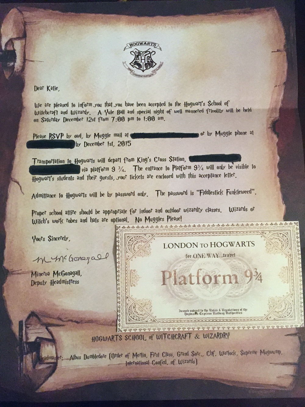 Harry Potter Birthday Invitation Template Free