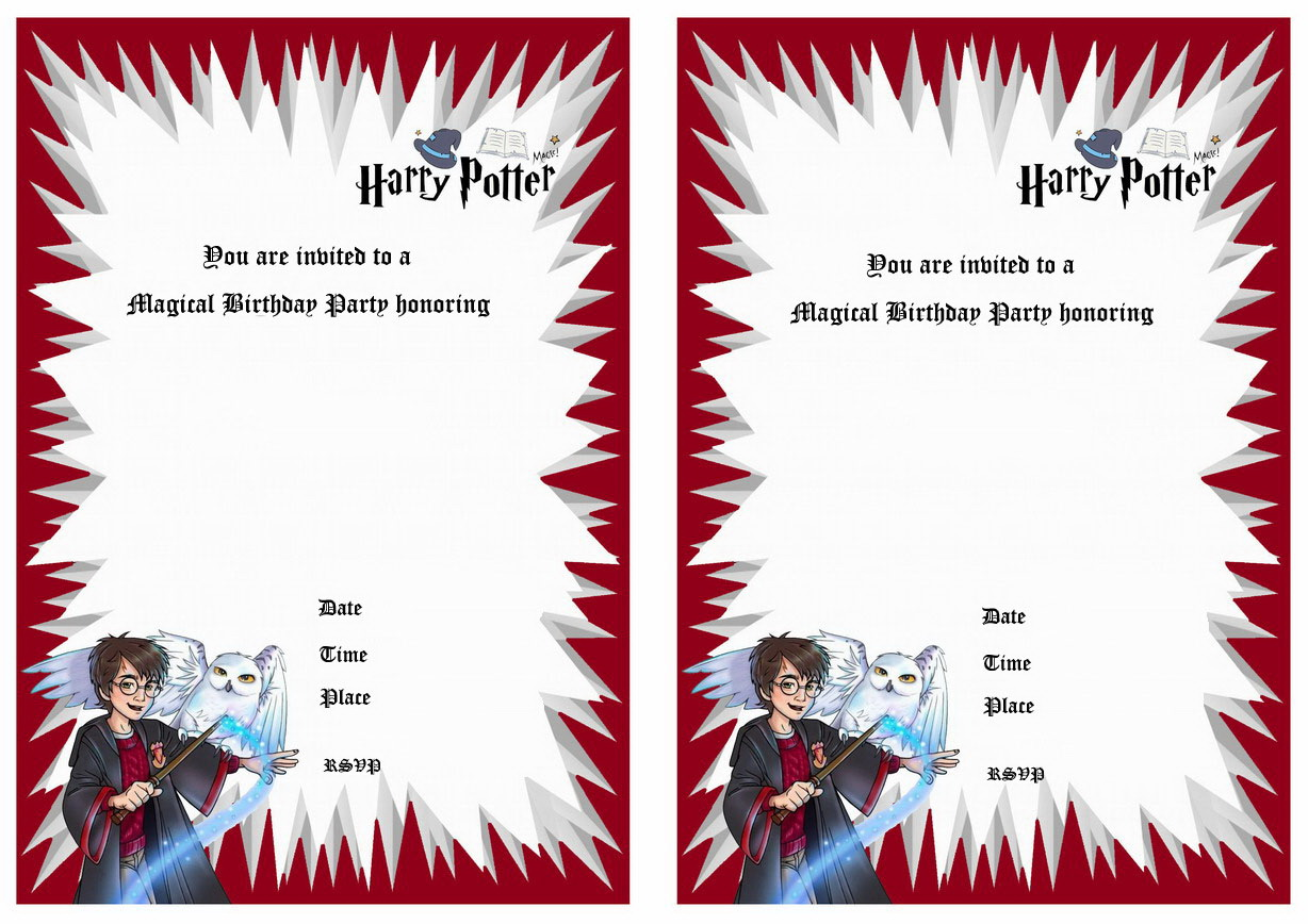 Harry Potter Wedding Invitation Template Free