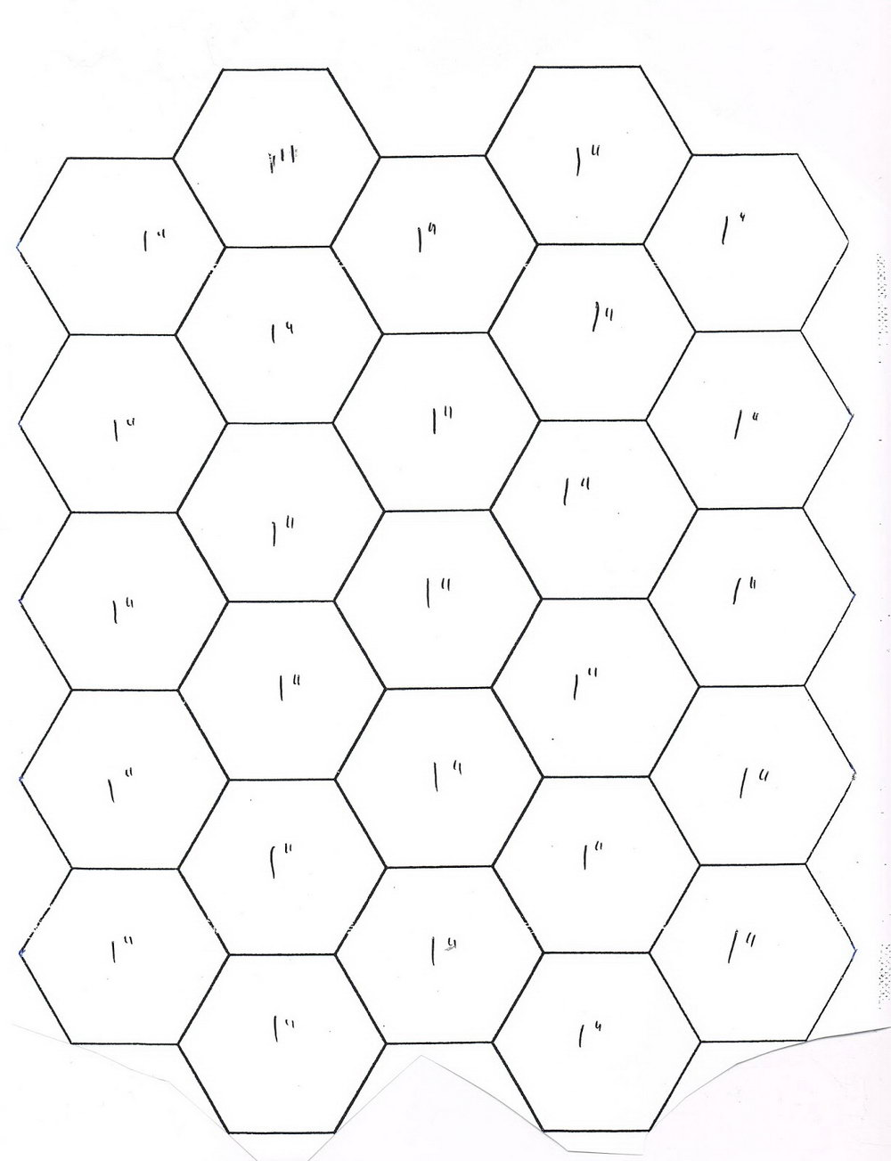 Hexagon Quilt Template