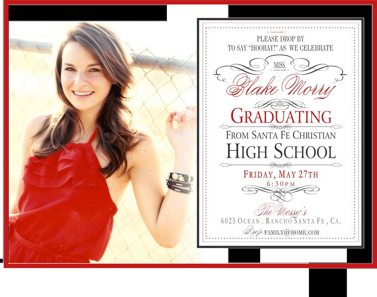 High School Graduation Announcements Templates