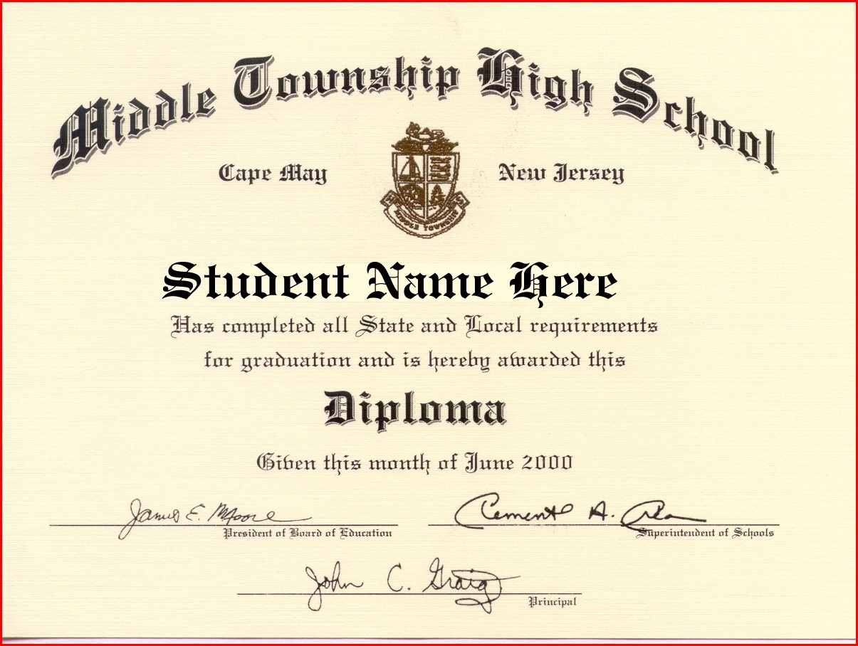 High School Graduation Certificate Template