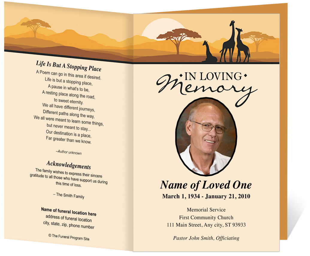 Indian Funeral Invitation Template