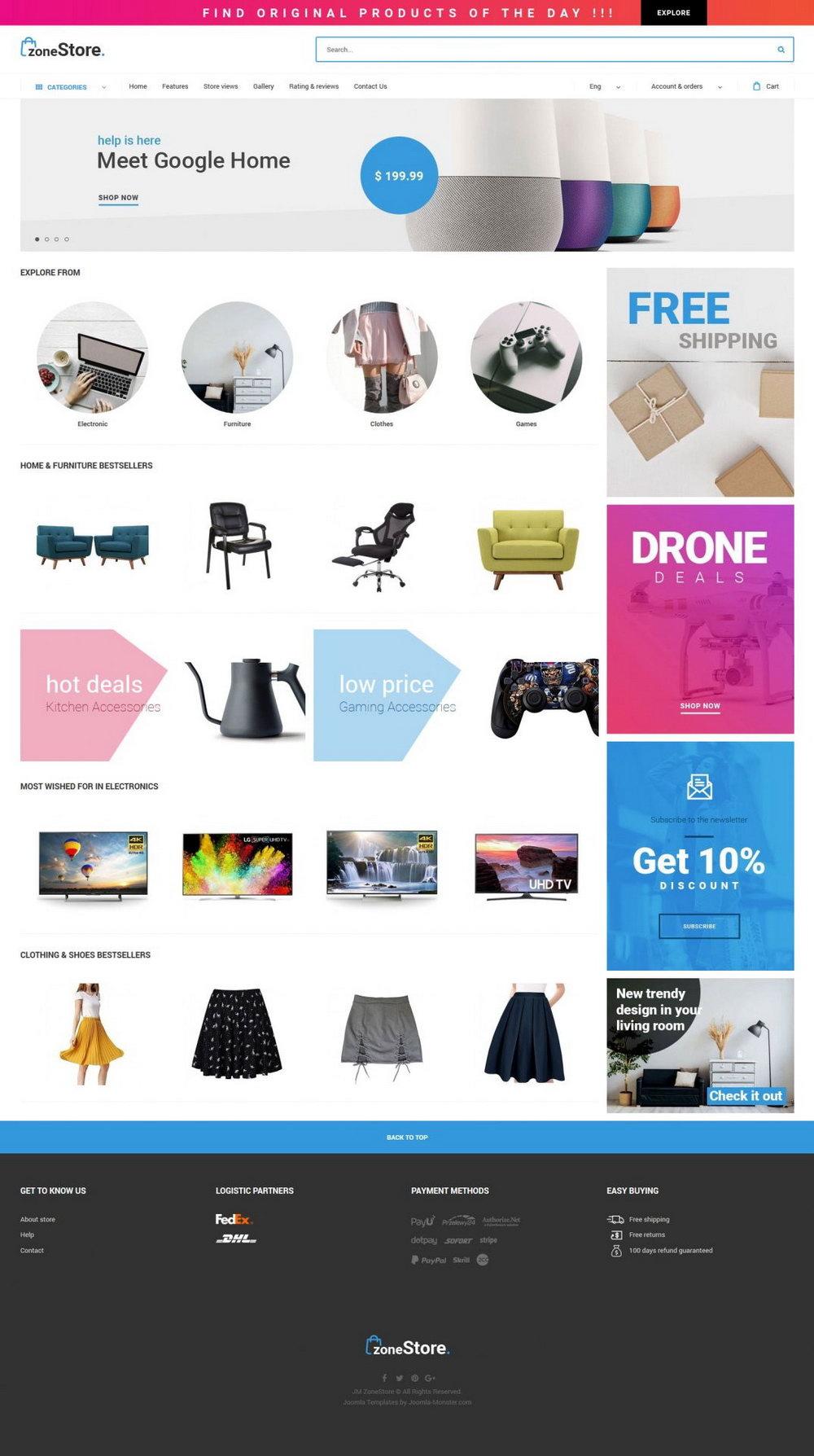 Joomla Ecommerce Templates Free Download