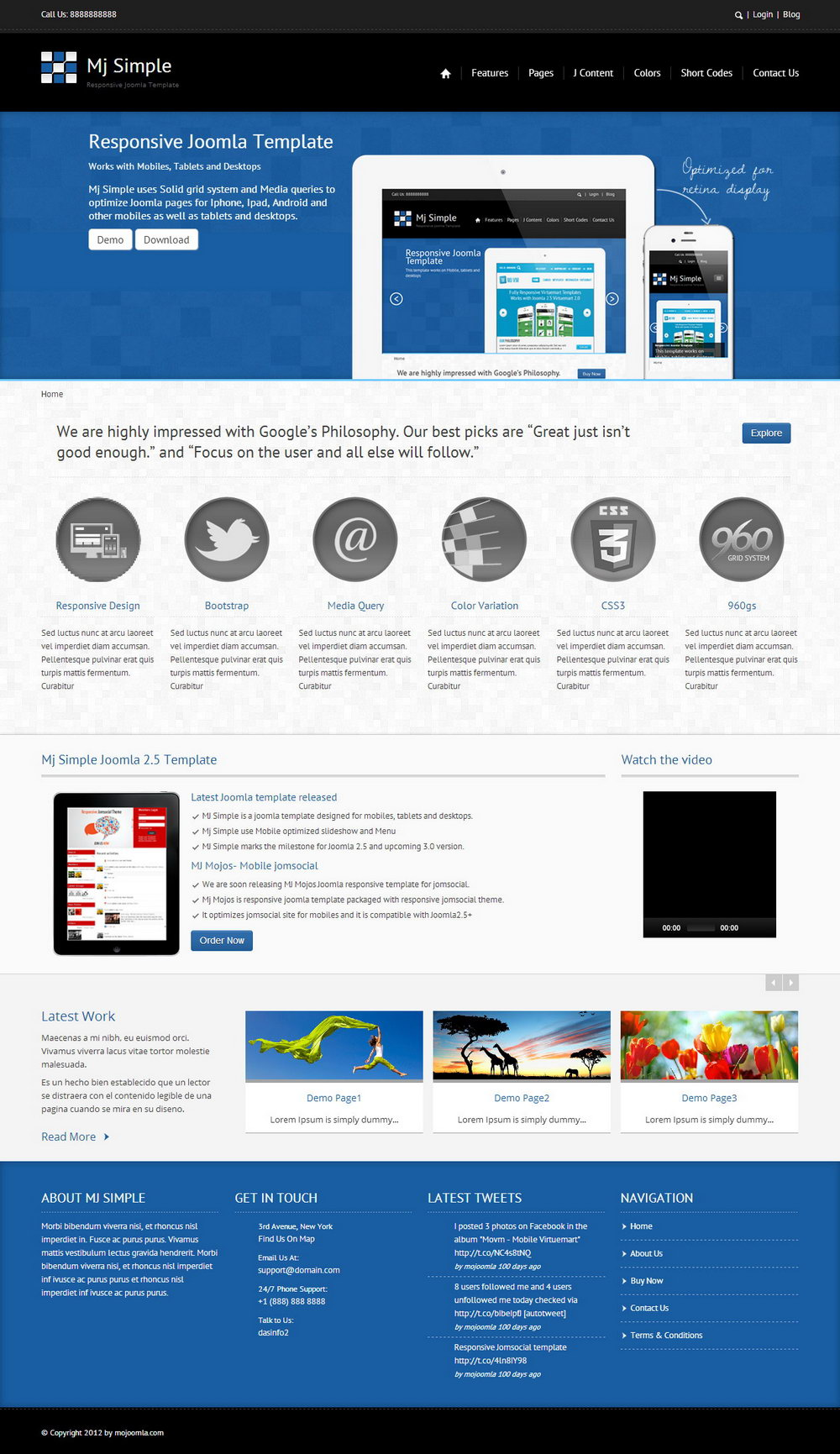 Joomla Responsive Template Free