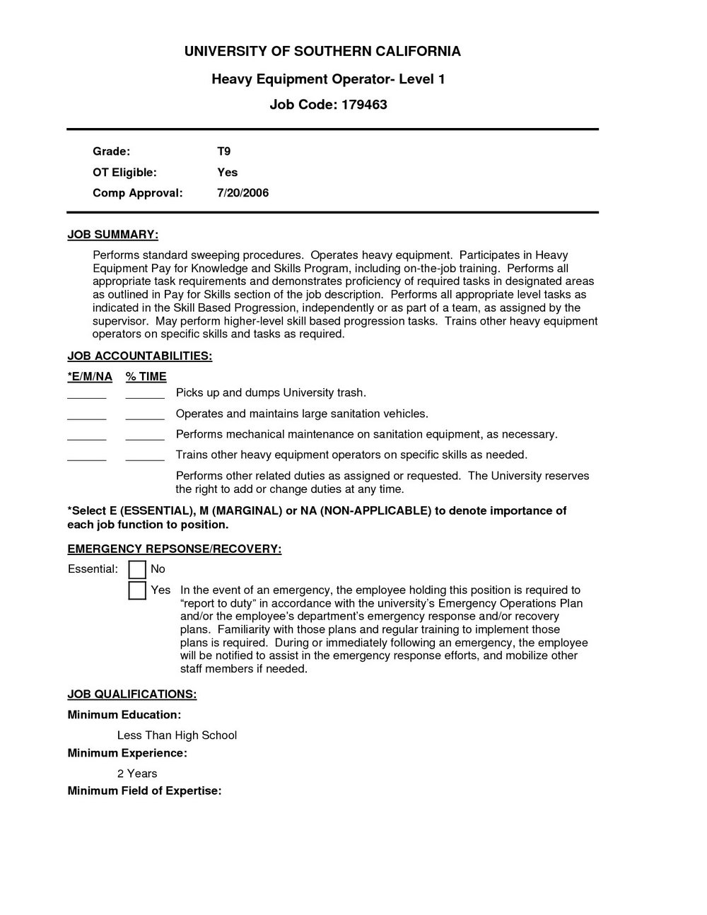 Machine Operator Resume Template
