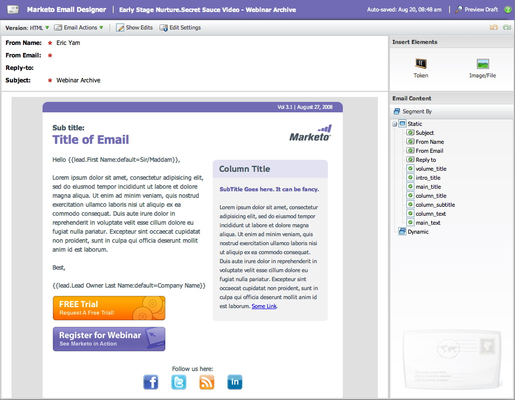 Marketo Email 2.0 Templates