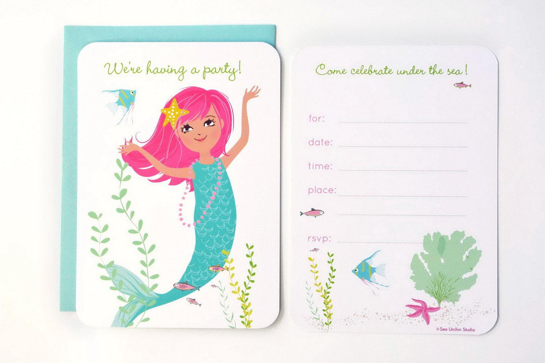 Mermaid Invitation Template Printable