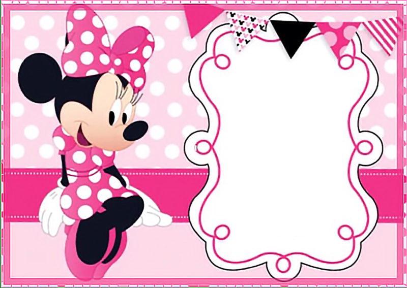 Minnie Mouse Free Birthday Invitation Template