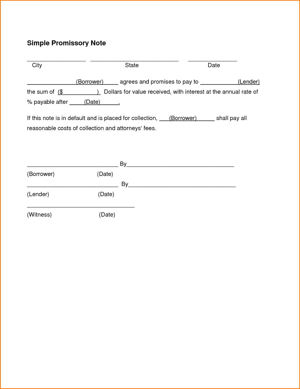 Note Payable Template