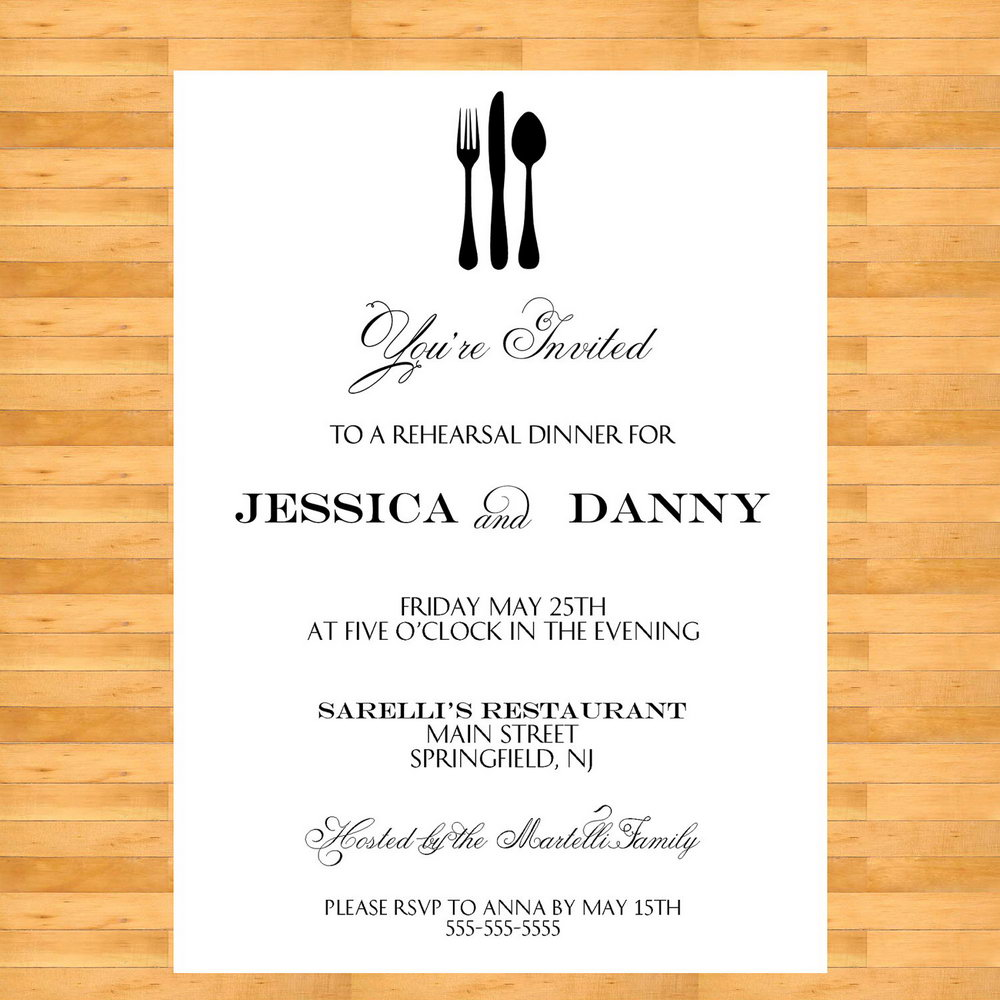 Office Dinner Party Invitation Template