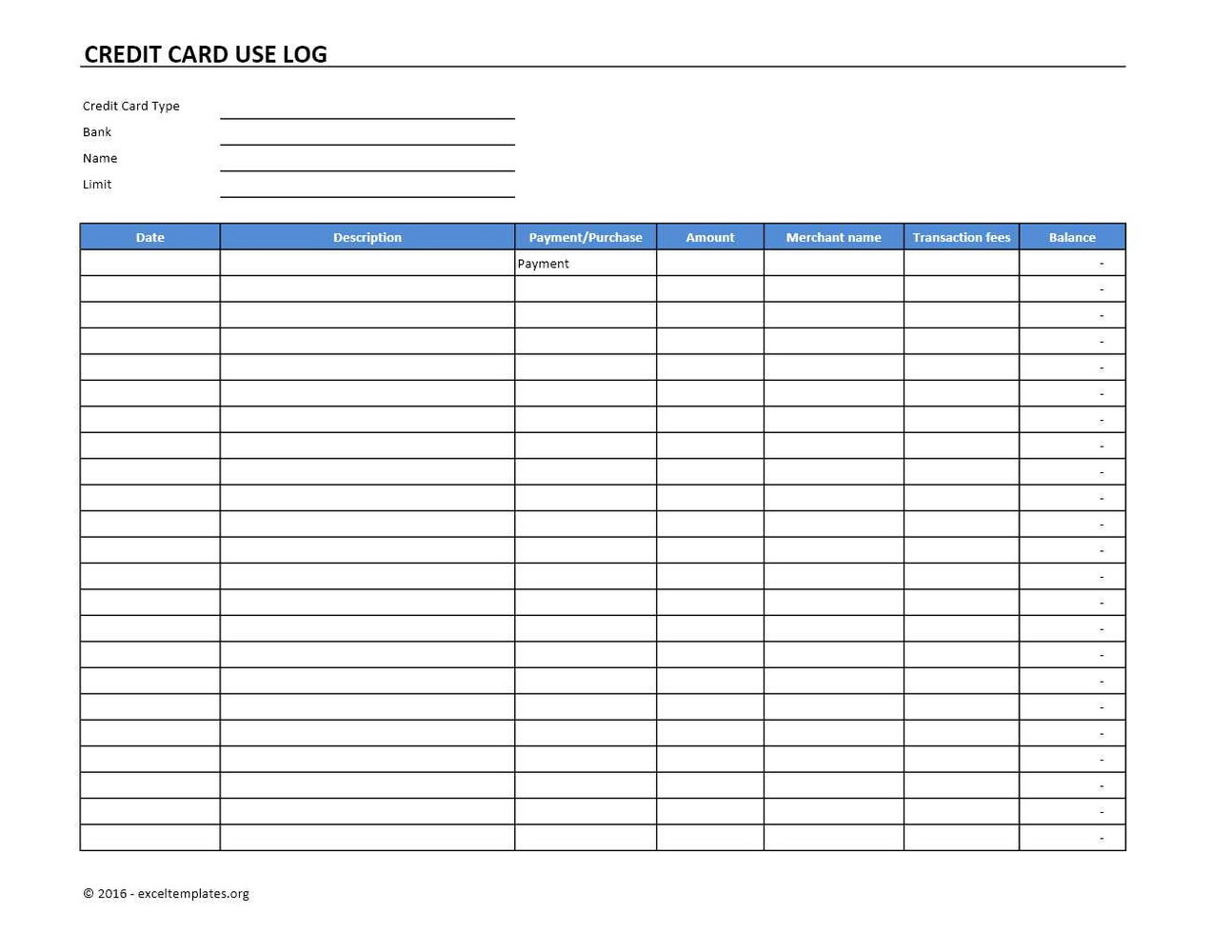 Parking Permit Template Excel