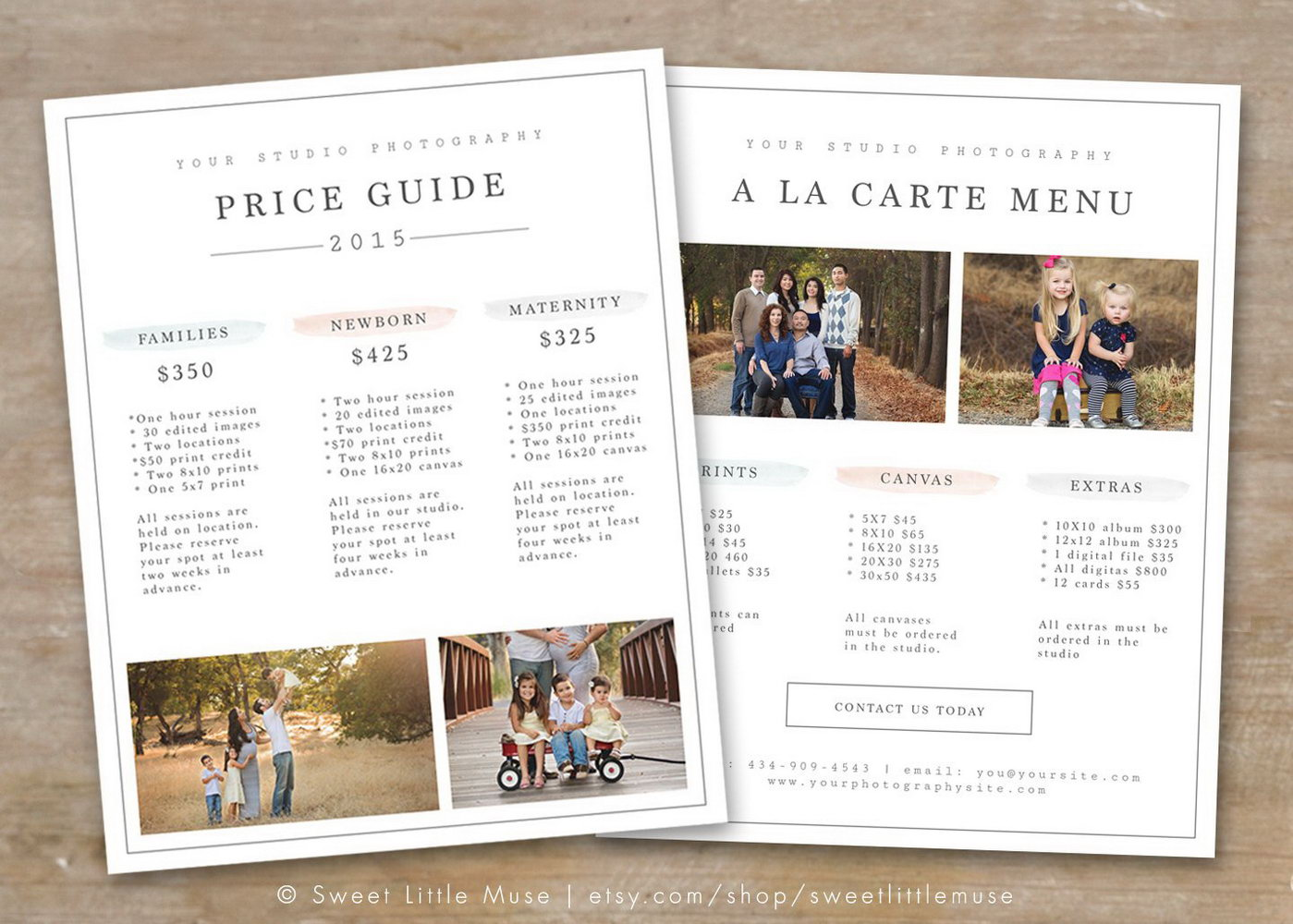 Pricing Templates For Photographers