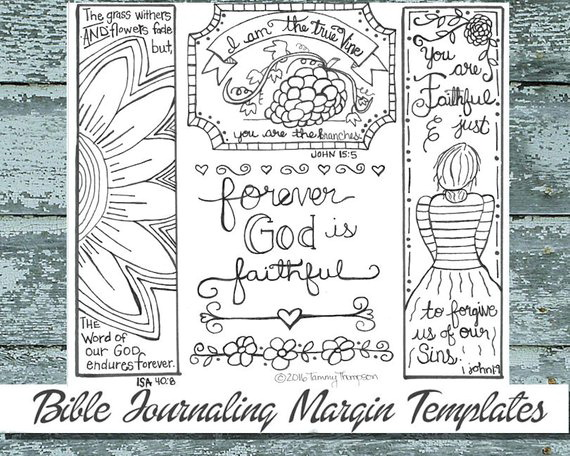 Printable Bible Journaling Templates