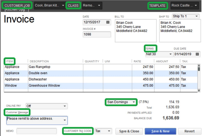 Quickbooks Online Invoice Templates Download