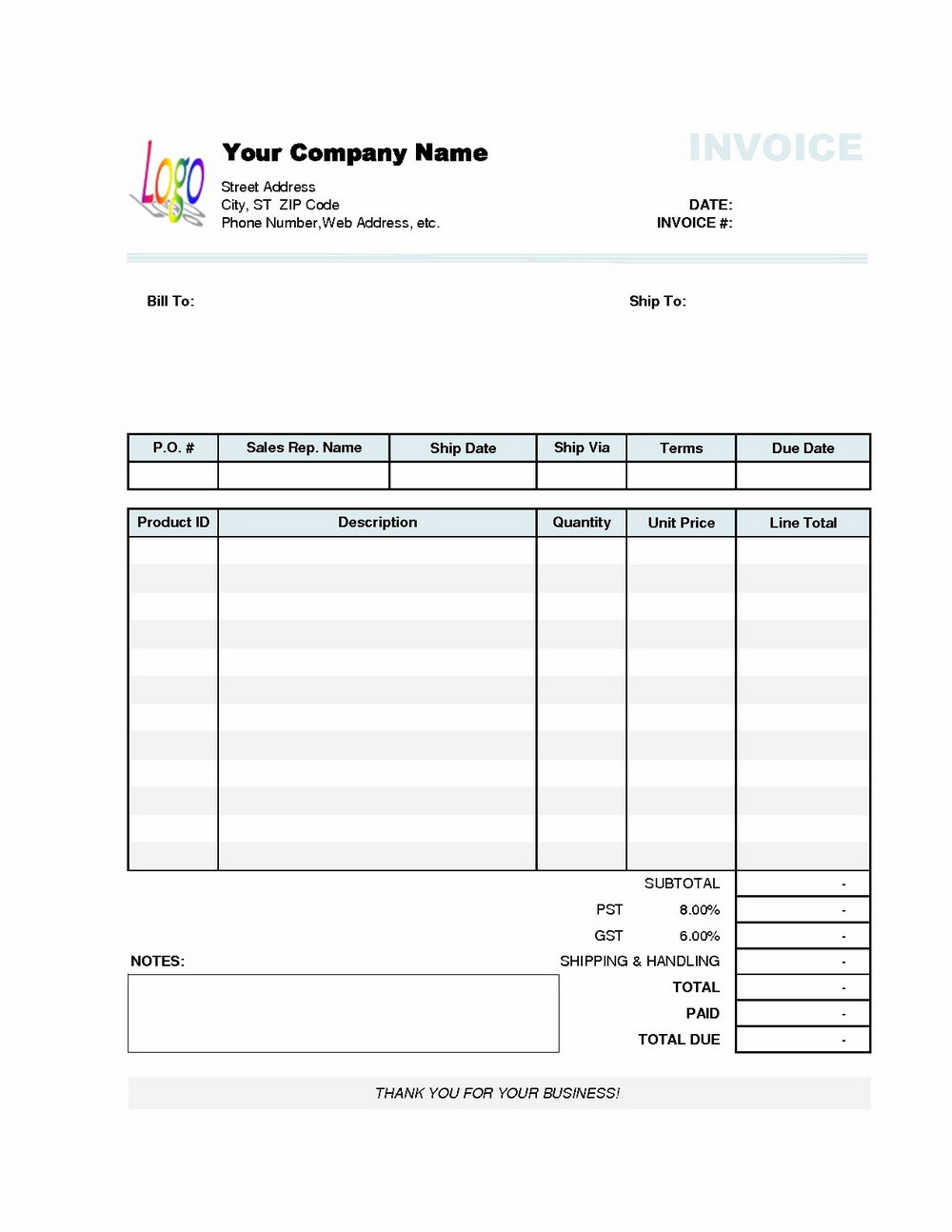 Quickbooks Templates Download