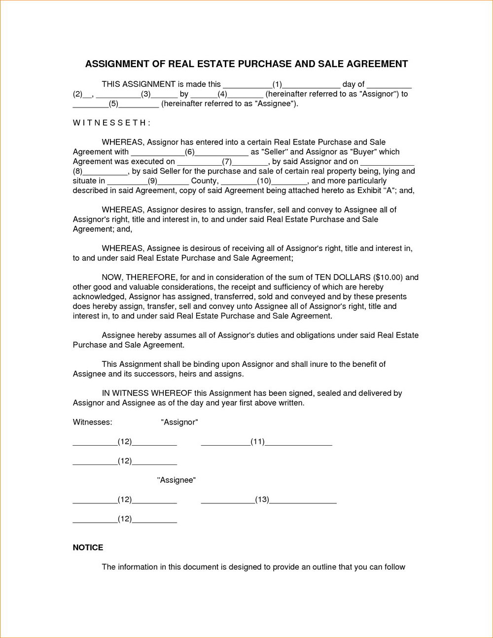 Real Estate Sales Contract Template Tennessee