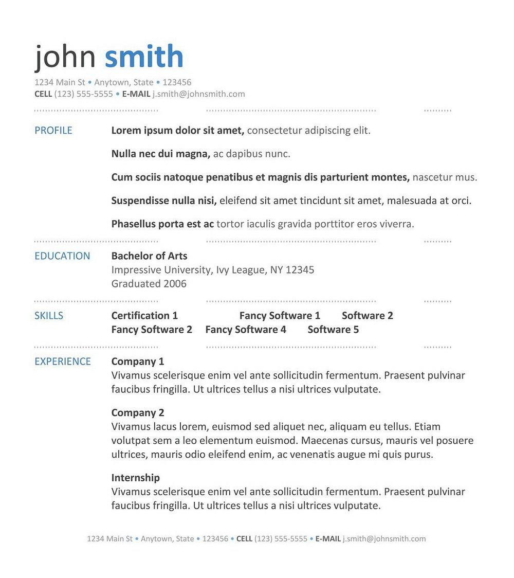 Resume Template Macbook