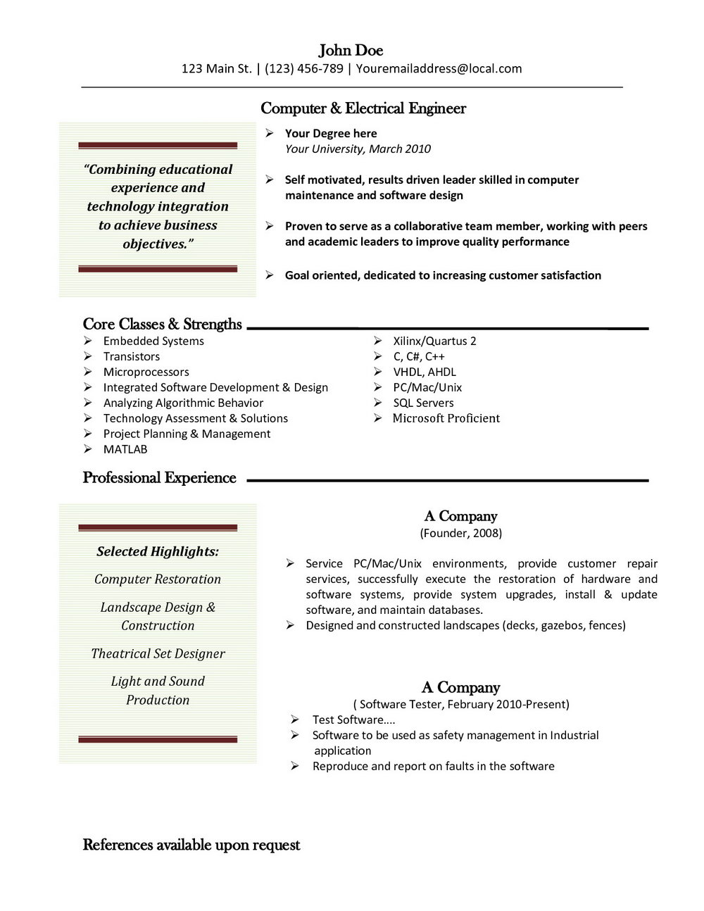 Resume Template Pages Mac