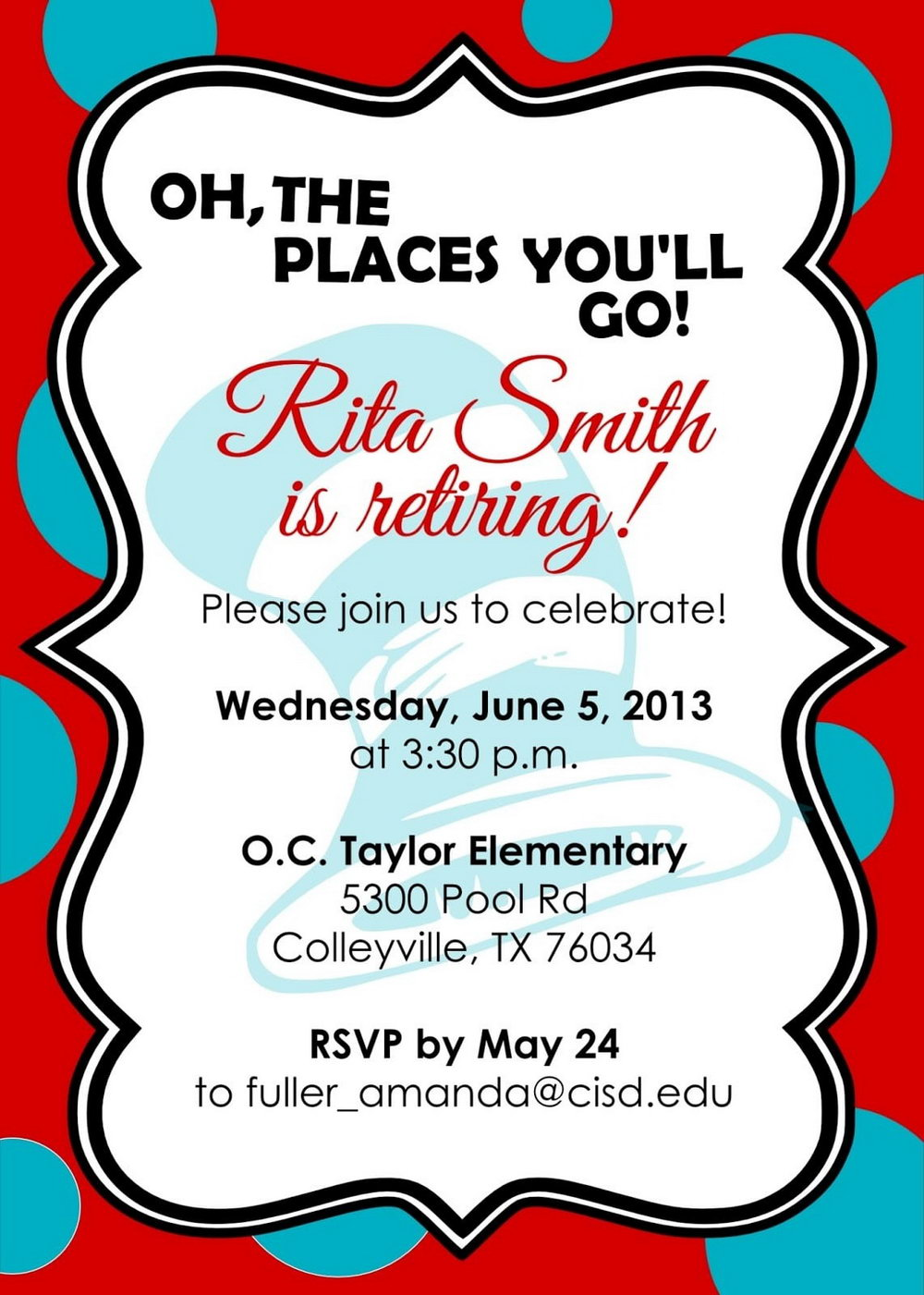Retirement Party Announcement Template