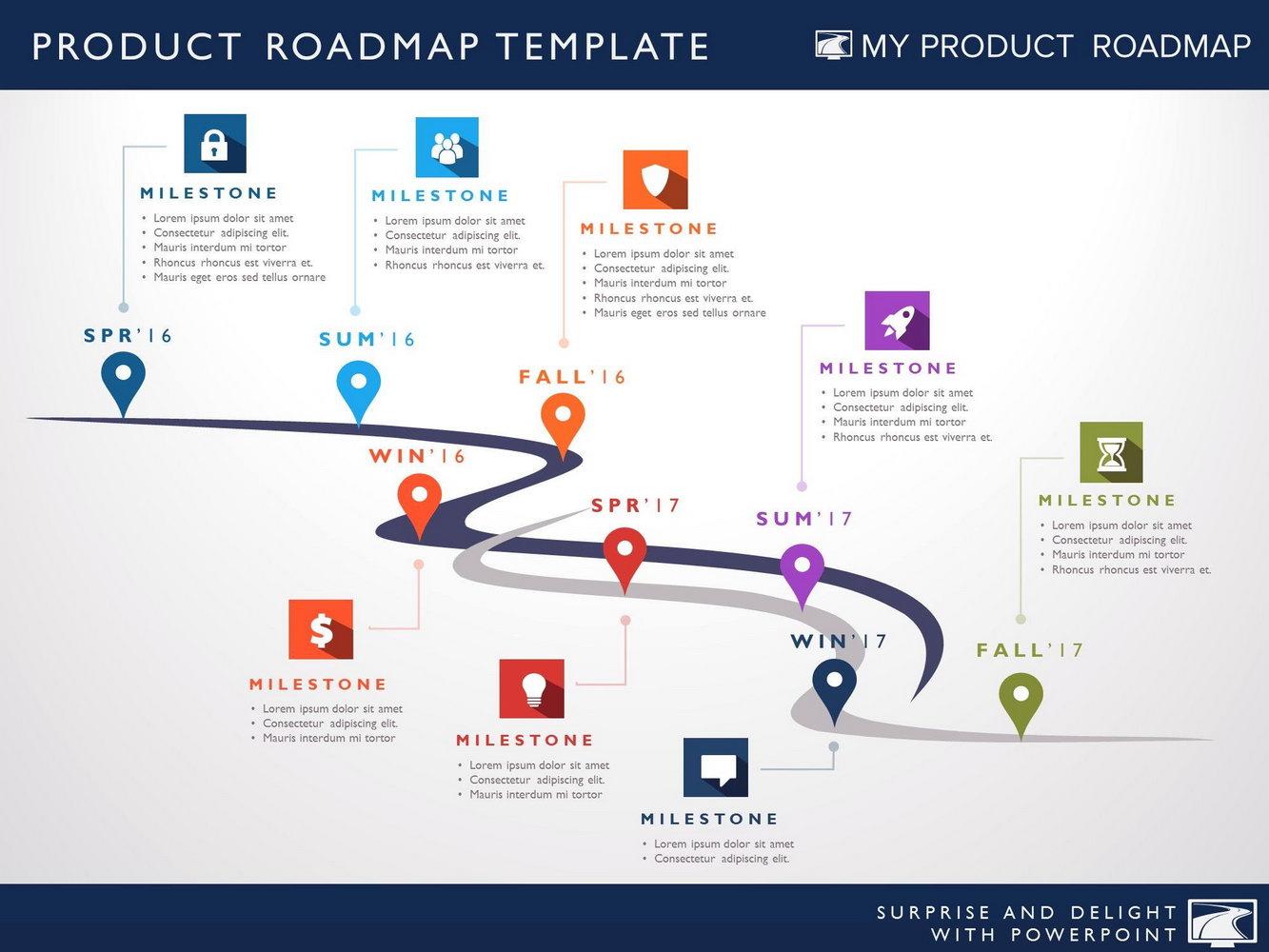 Roadmap Template Powerpoint Free