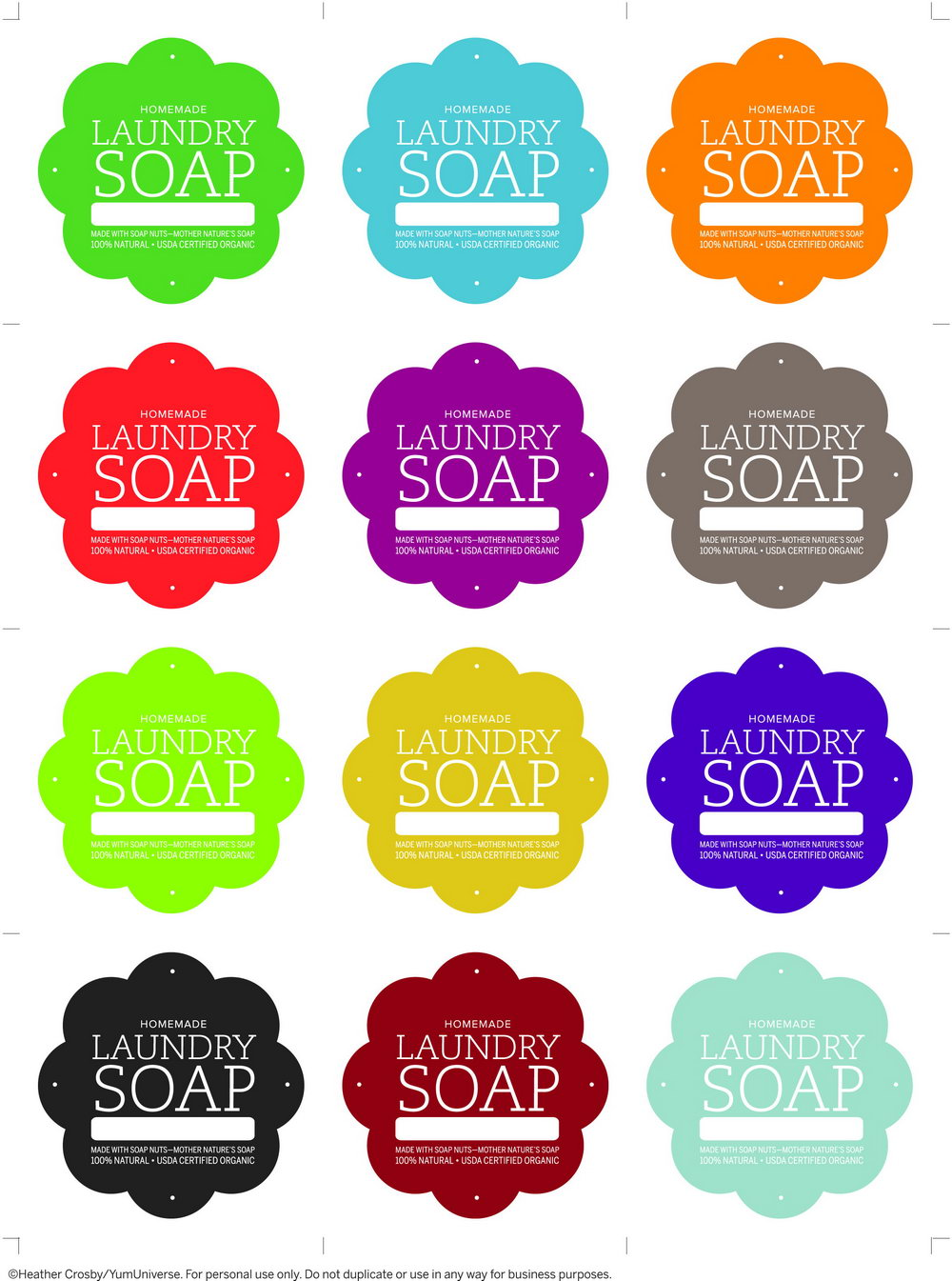 Soap Label Template Free