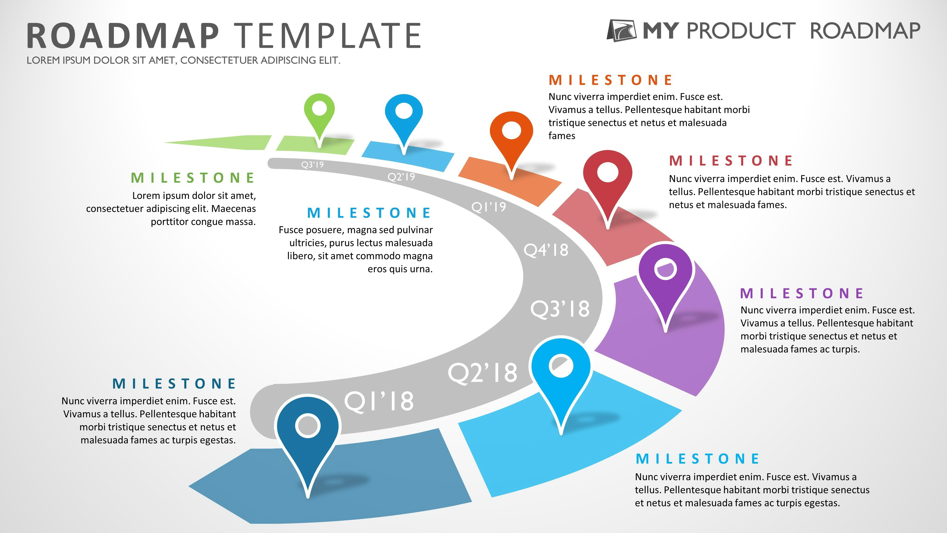 Strategic Roadmap Powerpoint Template