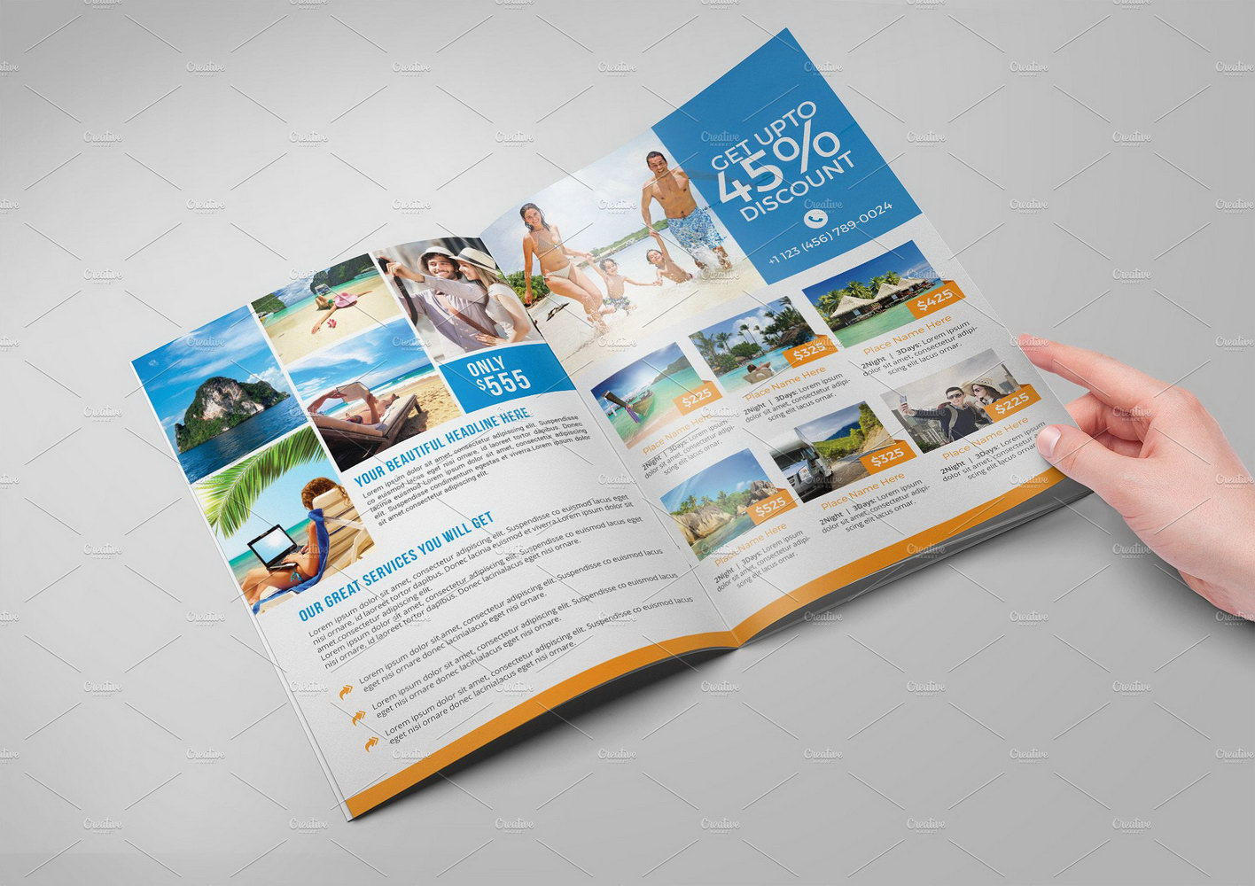 Templates For Travel Brochures