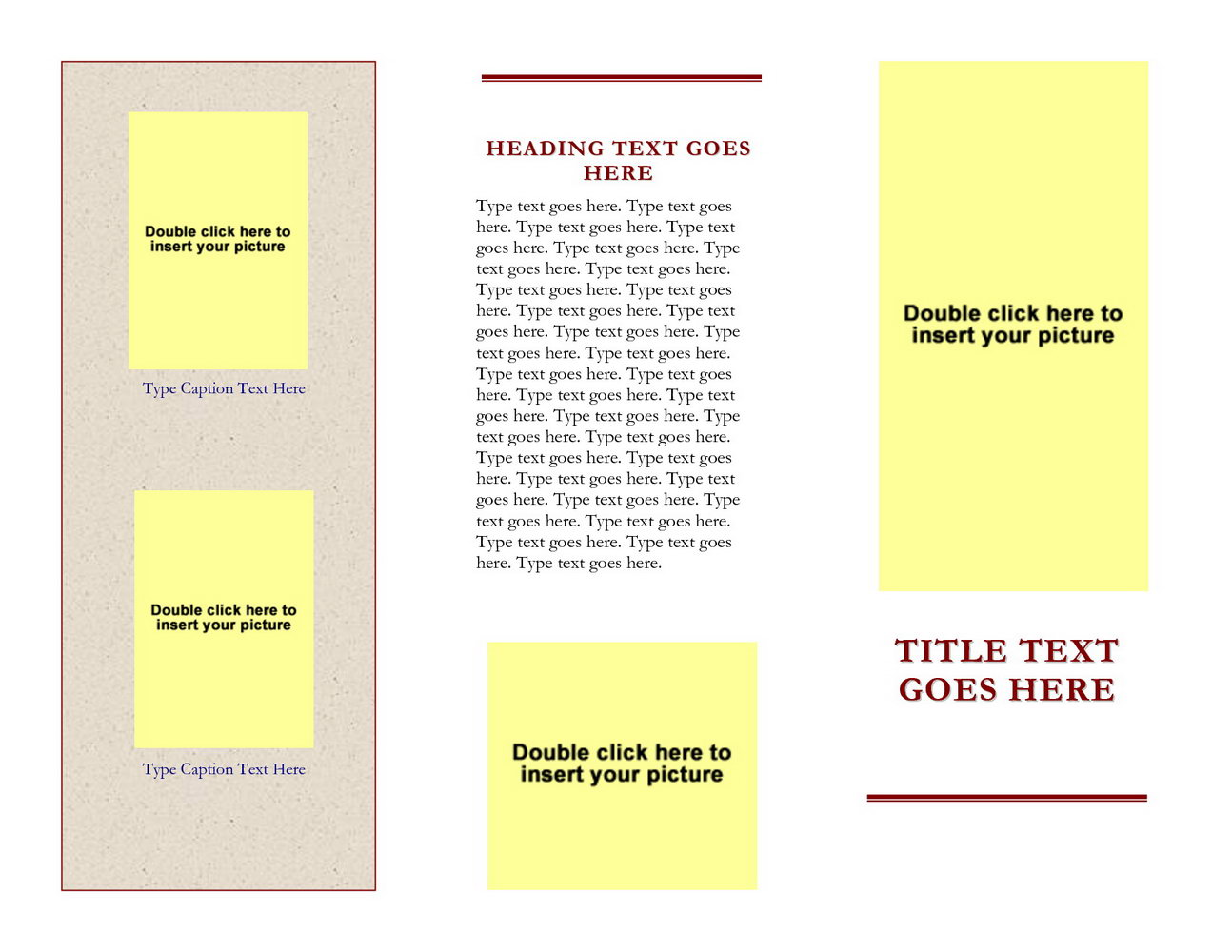 Word Templates For Brochures
