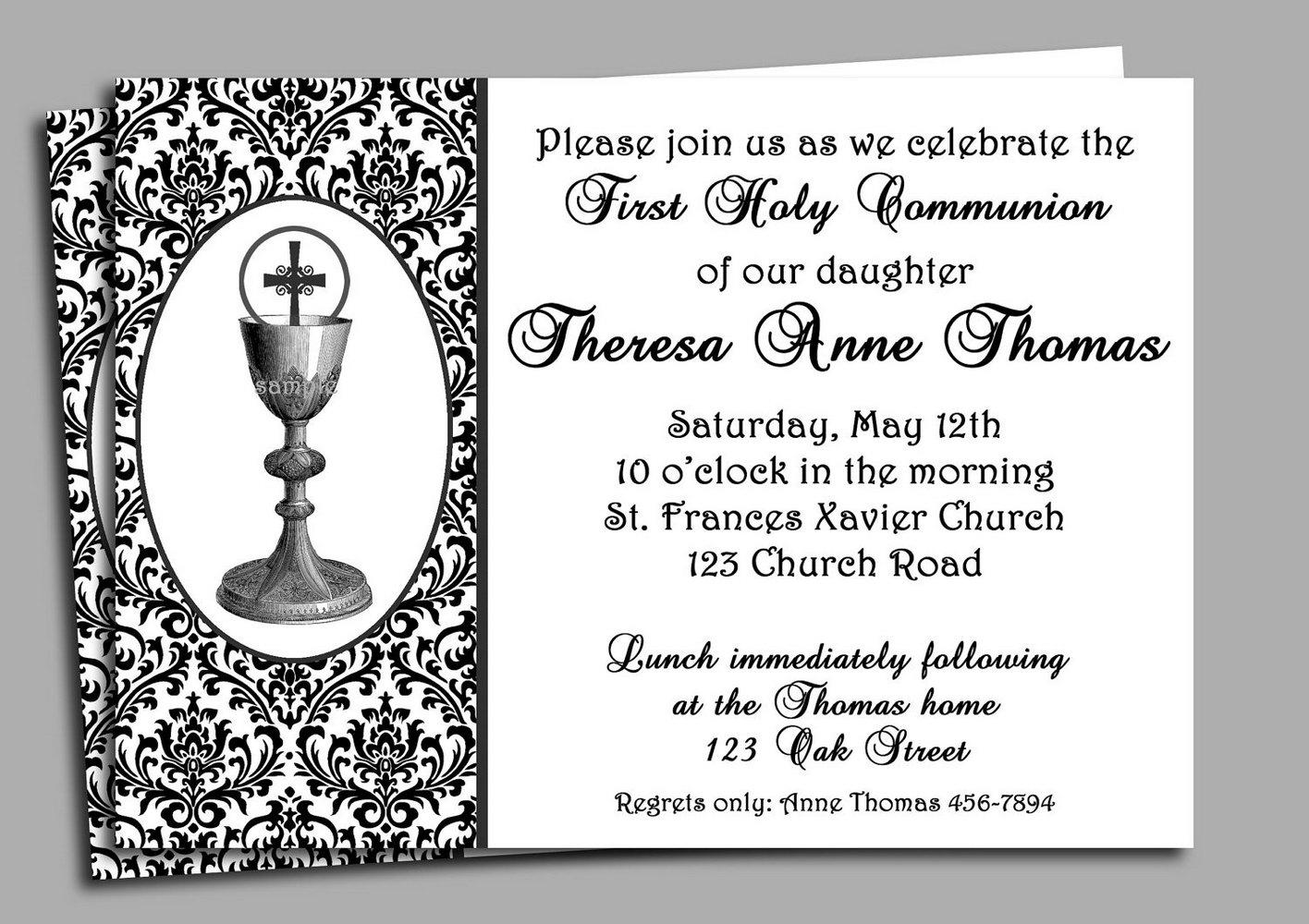 1st Communion Invitation Templates Free