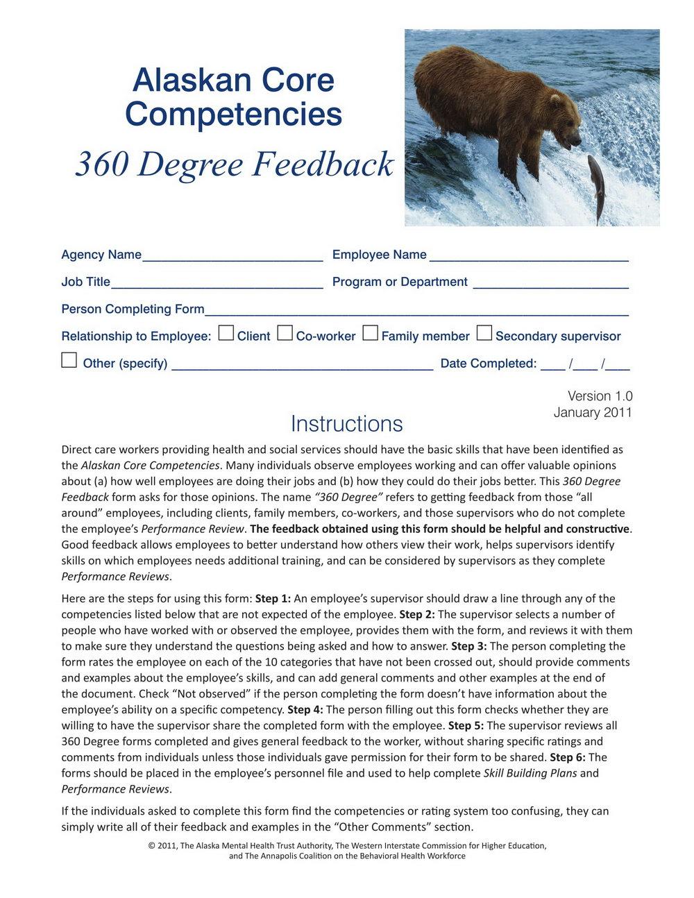 360 Degree Feedback Questionnaire Template