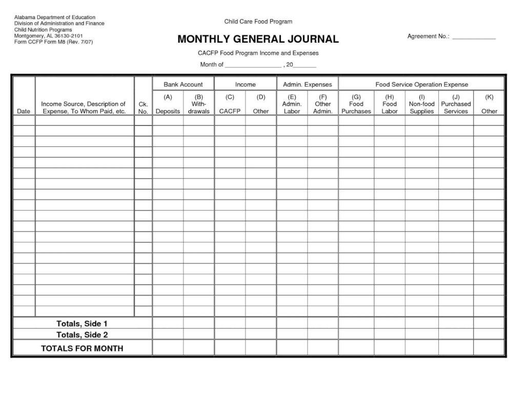 Accounting Spreadsheet Template Uk