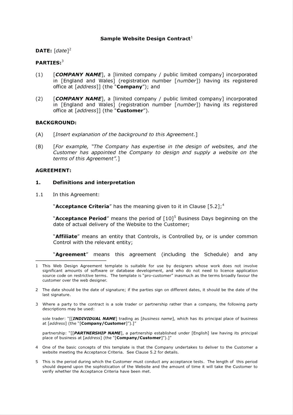 Affiliate Agreement Template Free