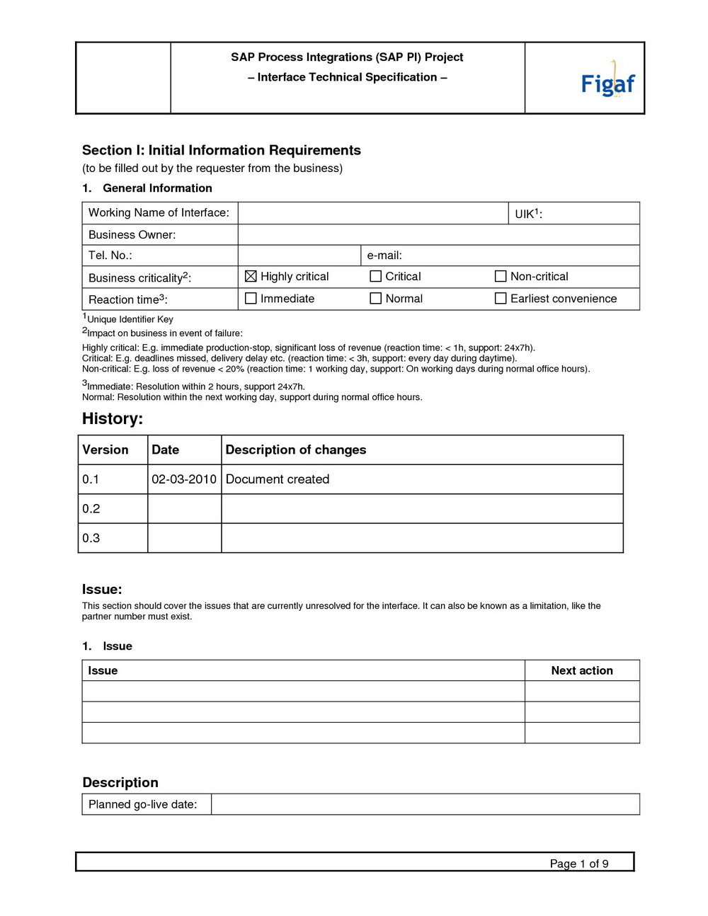 Agile Software Requirements Specification Template