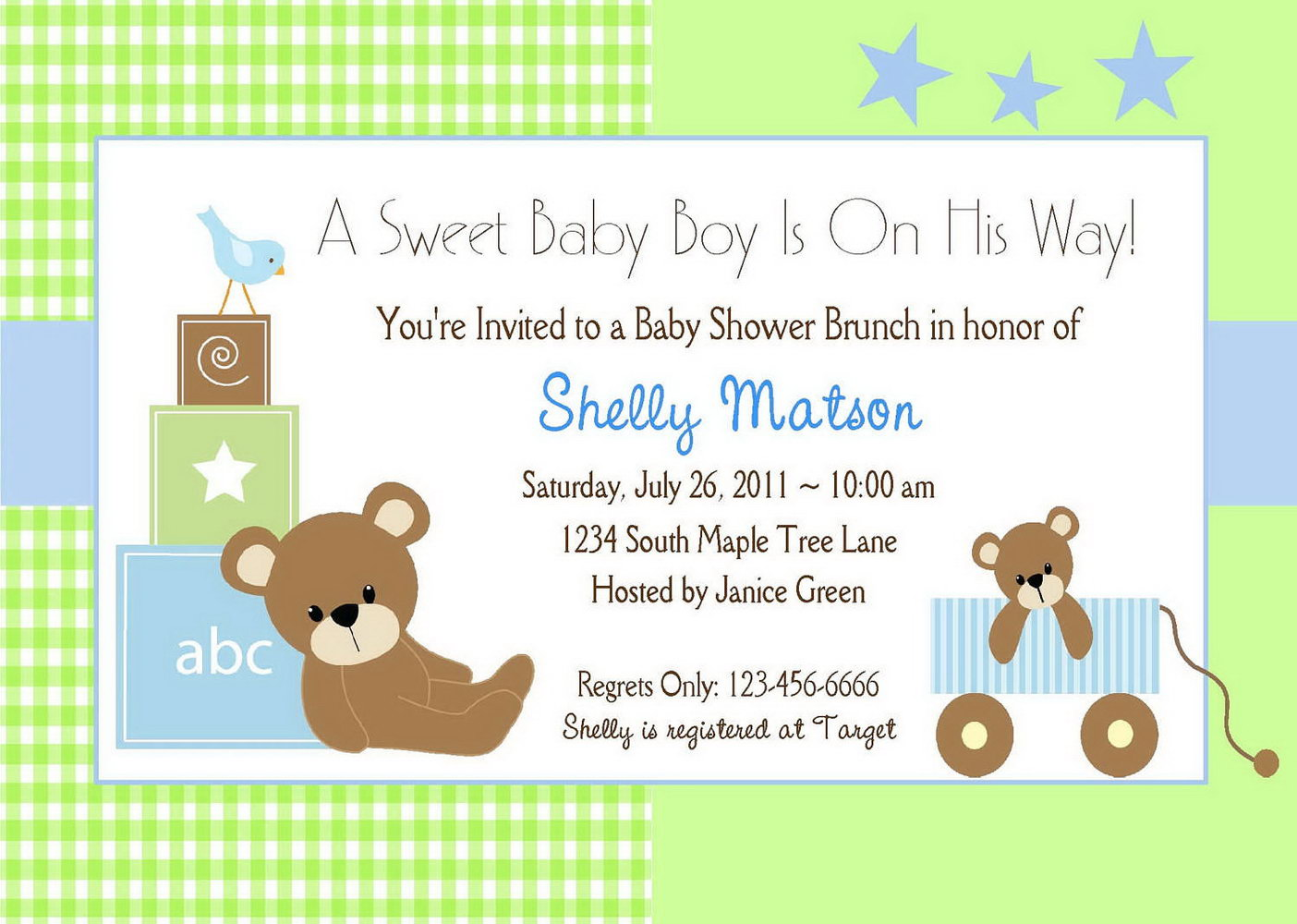 Baby Boy Baby Shower Invite Templates