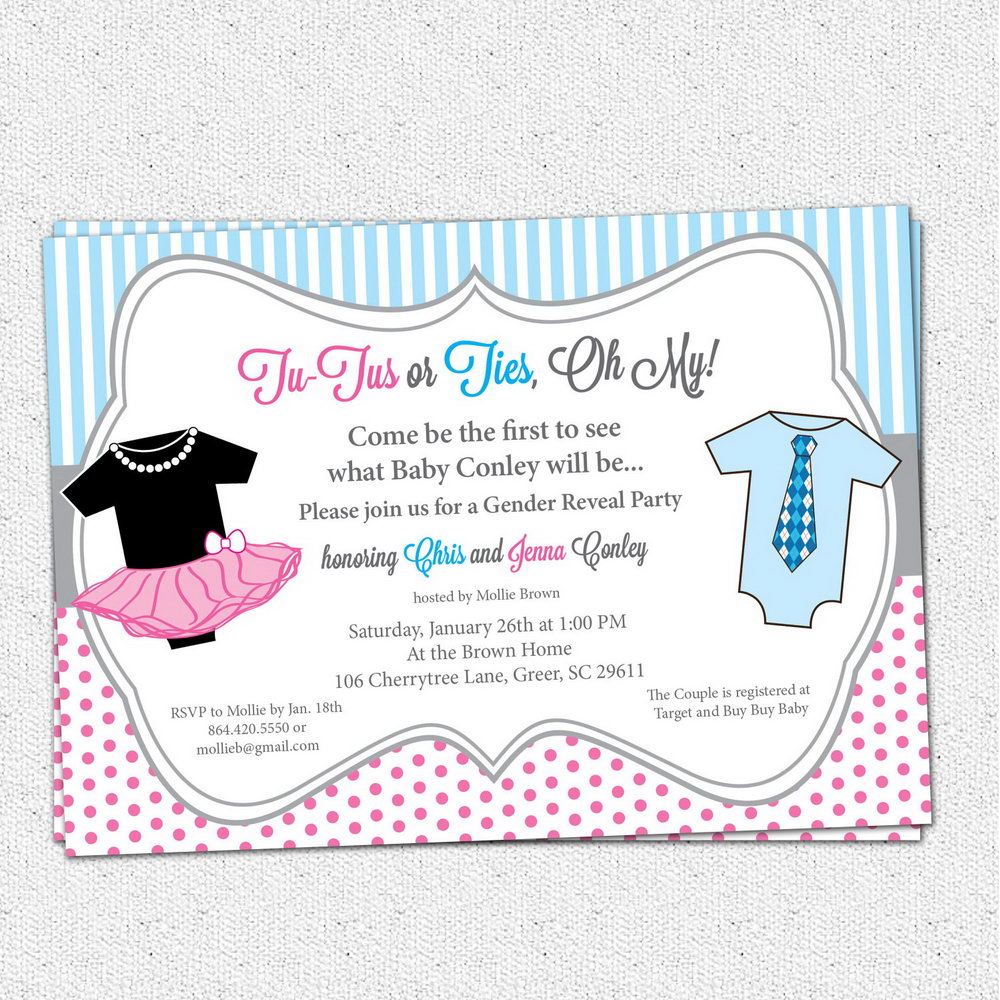 Baby Gender Reveal Templates