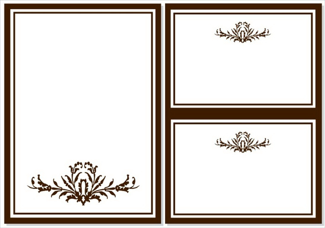 Blank Design Templates For Invitations