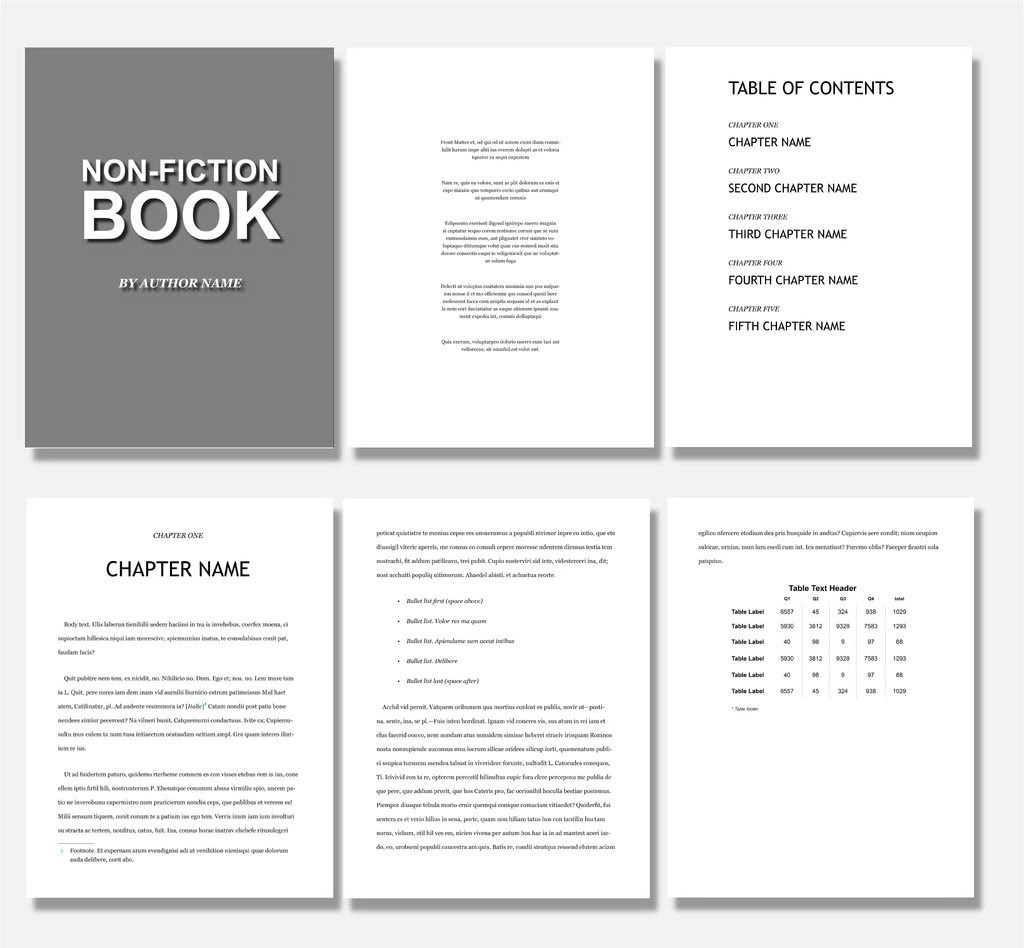 Book Design Template Indesign