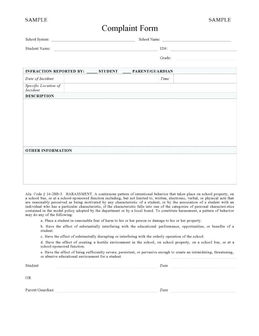 Bullying And Harassment Policy Template