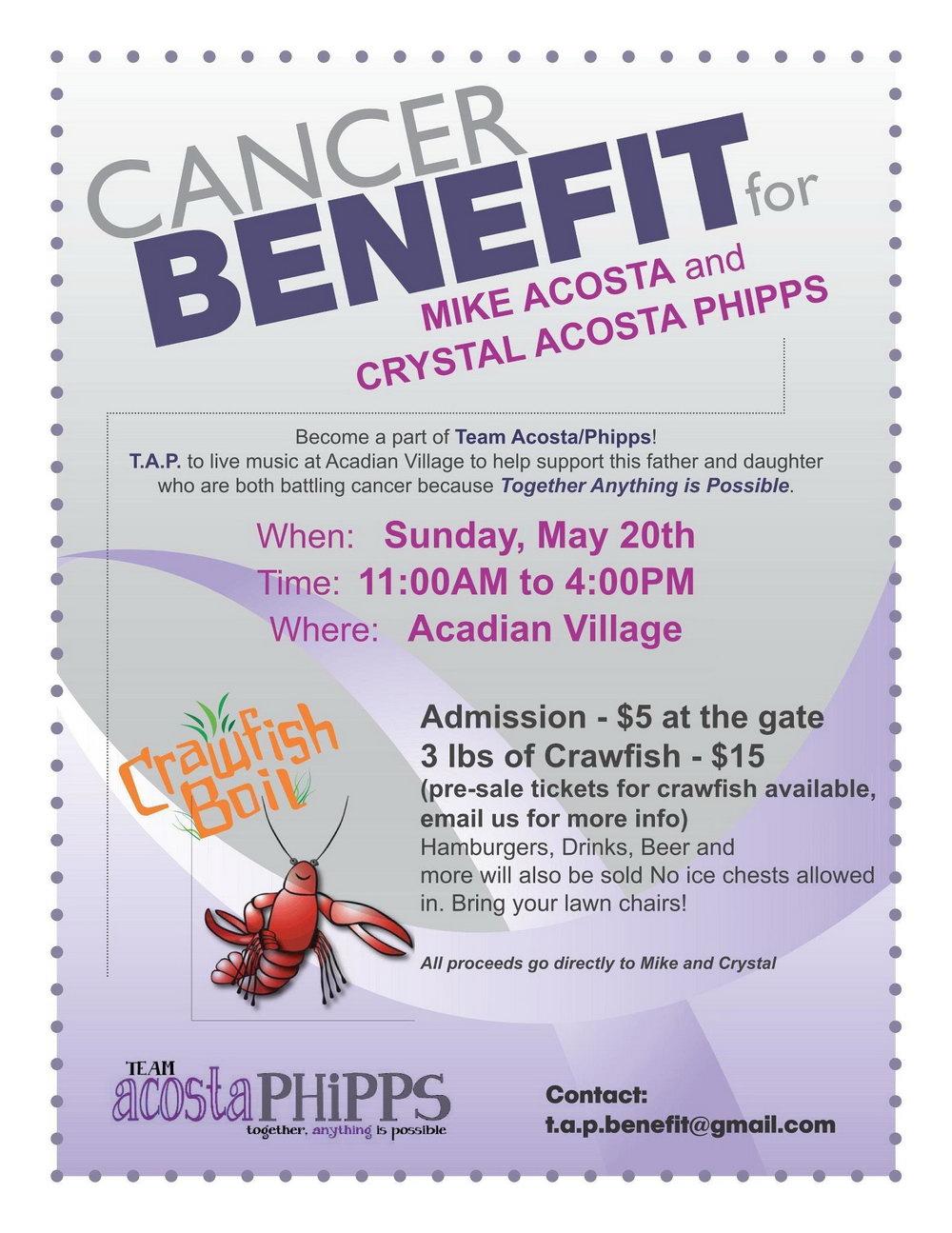 Cancer Fundraiser Ticket Template